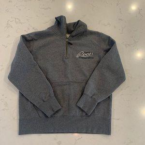 ROOTS grey half zip size S